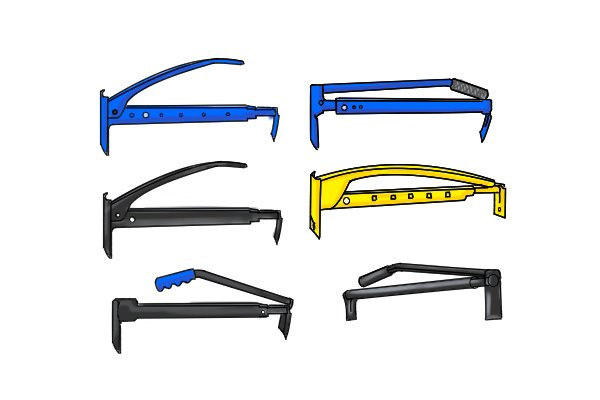 Brick tongs are the most common design of tool for lifting bricks or blocks by clamping and lifting. They can be called brick tongs, brick and block lifting tongs and brick lifters. They all typically carry between 6 to 10 bricks, however, are available in various colours, styles, models and prices. They all do the same function by applying the cantilever action.