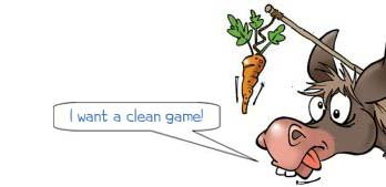 """Wonkee Donkee says, """"I want a clean game"""""""