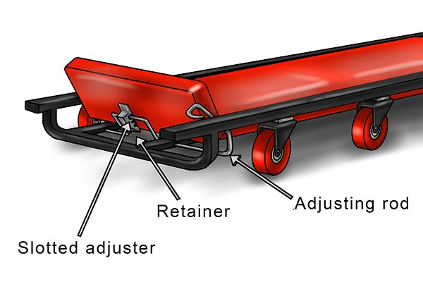 Car creeper, specialist mechanics tool, mechanic, maintenance, DIYer, wonkee donkee.