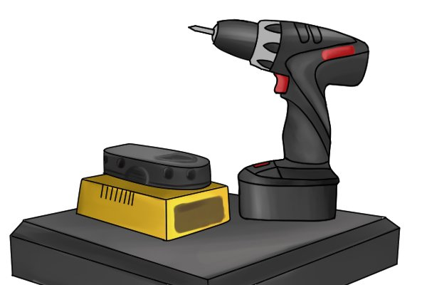 Rechargeable cordless drill driver battery set