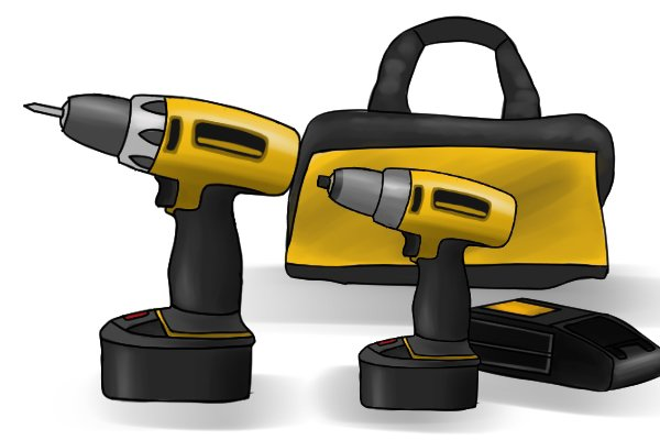 14.4v impact driver and a 14.4v drill driver and a battery