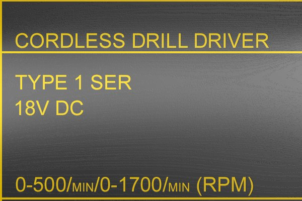 High RPM label for a cordless drill driver