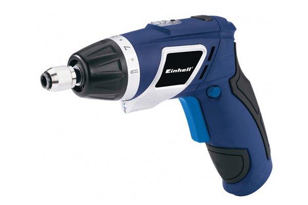 Blue cordless screwdriver