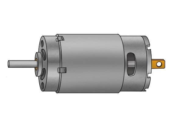Silver motor for a cordless drill driver