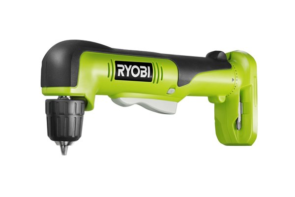 Green right angled cordless drill driver with no torque control