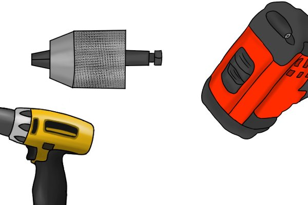 Same features as a cordless drill driver: speed control trigger, keyless chuck, and a gear switch