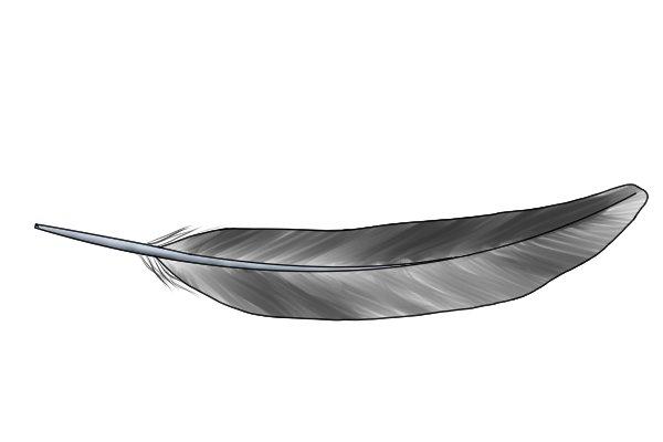 Lightweight feather