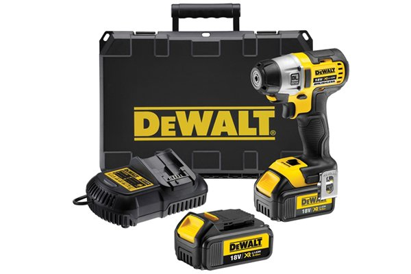 Cordless impact driver set with batteries