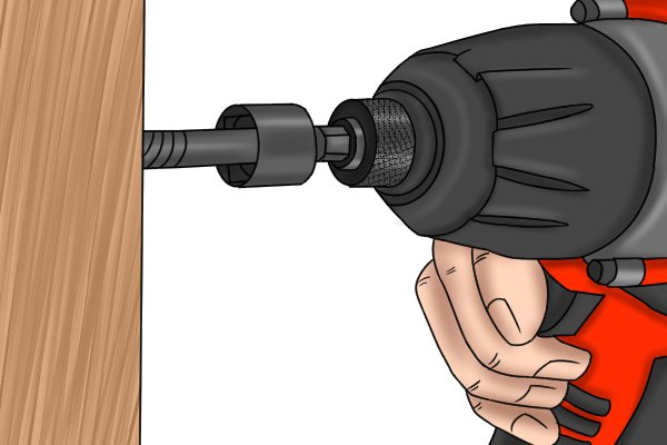 Driving a lag bolt with a cordless impact driver