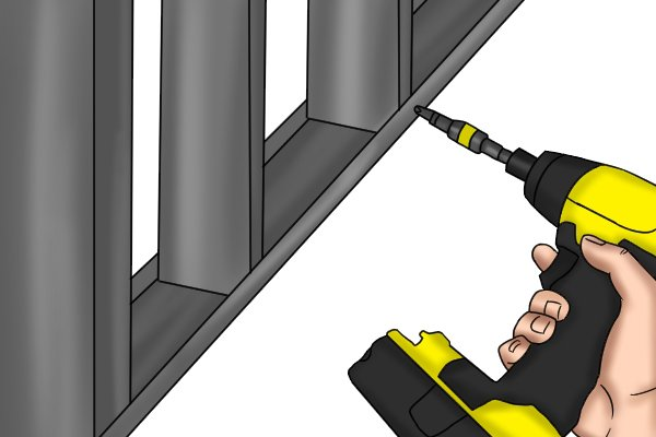 Installing a metal frame with a cordless impact driver