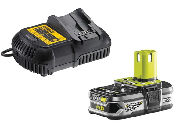 Cordless impact driver battery and charger