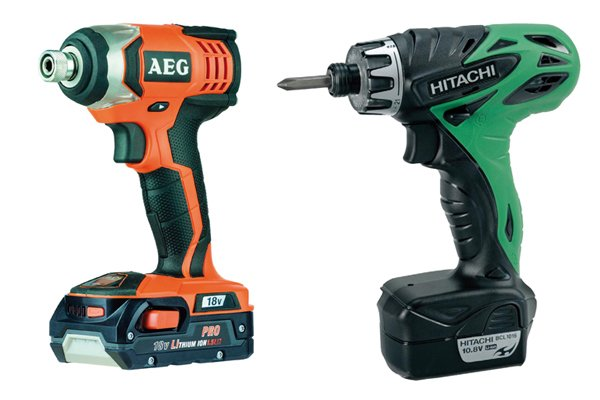 Two types of cordless impact driver with different wattage