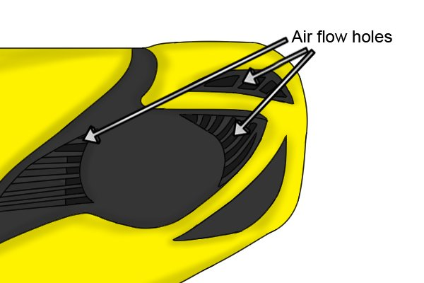 Air flow holes prevent over heating
