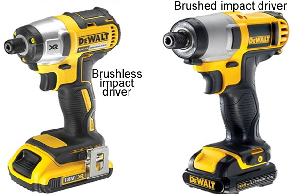 Brushless impact driver and brushed impact driver