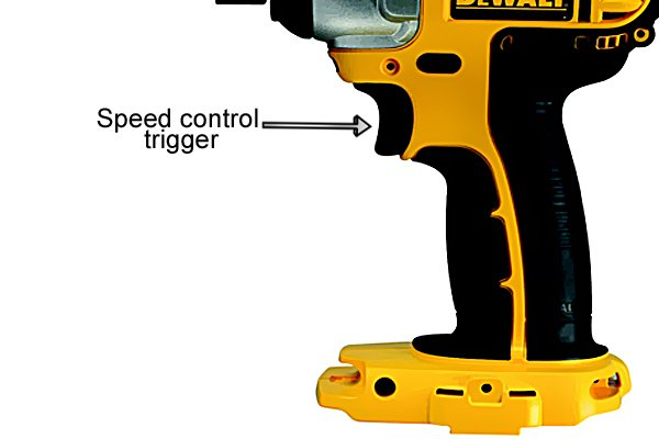 Power control trigger cordless impact driver