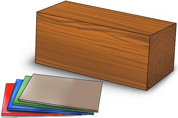 Wood and plastic