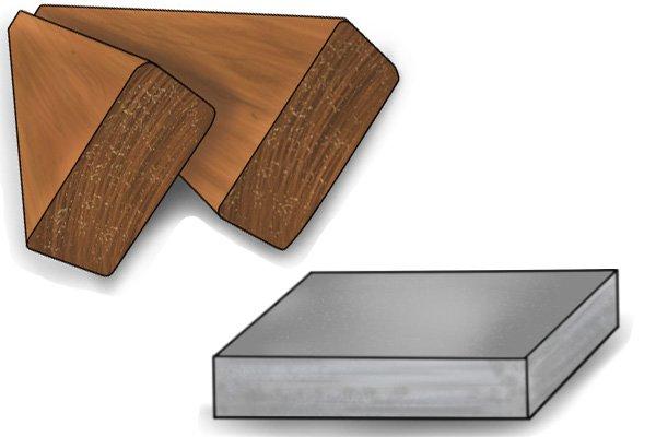 Hardwood and metal