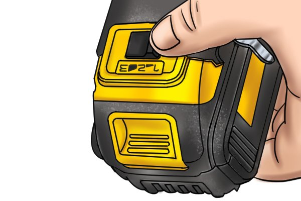 Gear selector switch on a cordless impact driver