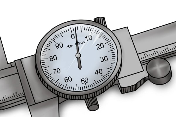 If the dial indicator needle does not point exactly to zero when the jaws are closed, you will need to recalibrate your caliper.