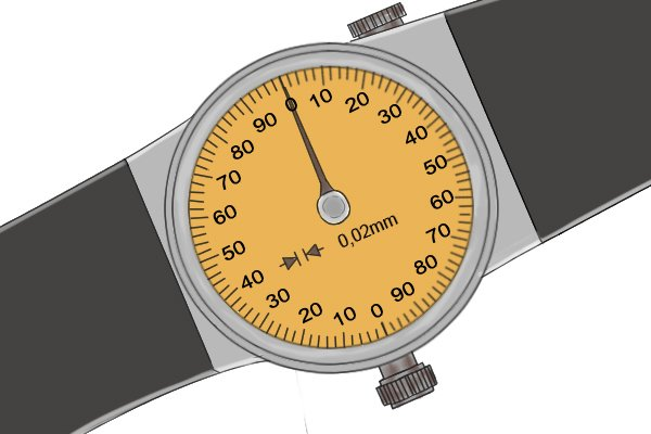 Step 2 Next, read the value shown on the dial indicator. On most metric dials each increment is equal to 0.02mm.