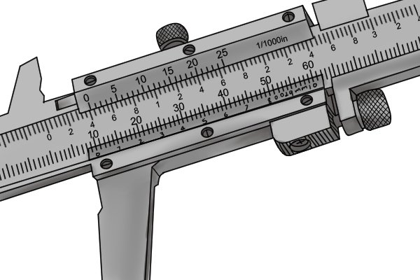 Vernier calipers usually show either imperial or metric measurements, but some measure in both.