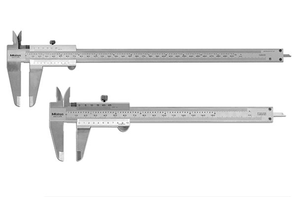 The range (sometimes called maximum capacity) of a vernier caliper is the difference between the largest value and the smallest value that the caliper can measure. It is equal to the length of the main scale. Most vernier calipers have a range of 6 inches (300mm), although calipers with smaller and larger ranges are also available.