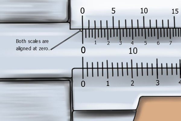 If the zero on the vernier scale lines up with zero on the main scale when the jaws are closed, your vernier caliper is calibrated correctly.