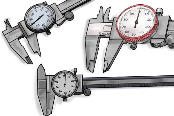 The measuring range of a caliper is the difference between the largest value and the smallest value that it can measure. The measuring range of most dial calipers is 150mm (6 inches), although calipers with ranges of between 100mm (4 inches) and 300mm (12 inches) are also available.