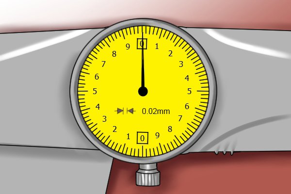 The graduation of a caliper is the smallest distance it can measure; the value of a minor increment on the dial scale. The graduation of most dial calipers is 0.02mm or 0.001 inches. Graduation is normally indicated on the face of the dial.