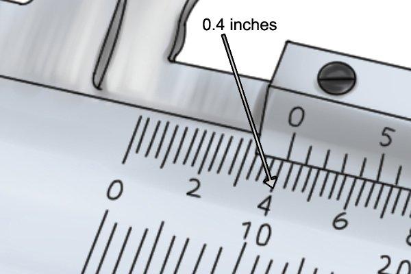 how to read vernier caliper in cm