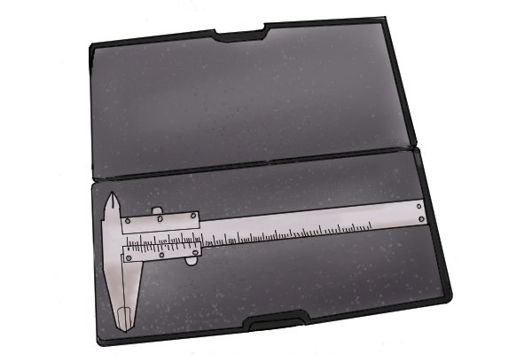 Most calipers come with a protective case to keep them safe when not in use.
