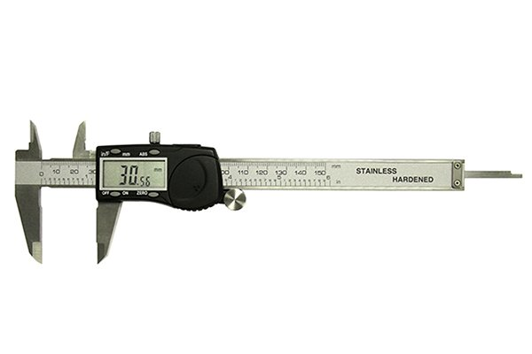 A digital (or electronic) caliper is a precision instrument used to take very accurate measurements. It is the most recent innovation in caliper technology.