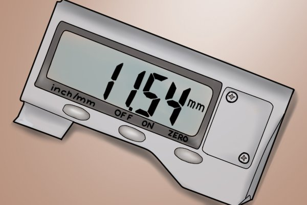 Measurements can be clearly read from the caliper's LCD display. The LCD screen takes the place of the dial indicator of the dial caliper and the vernier scale of the vernier caliper, and makes the digital caliper much easier to use.