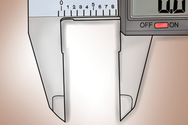 The lower jaws are used for measuring outside dimensions such as width, length and diameter.