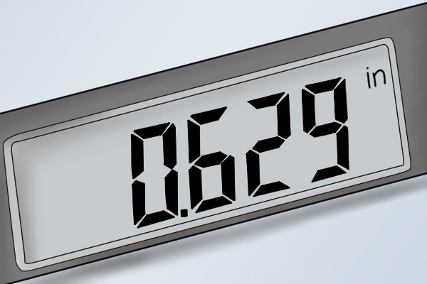 Precision measurements can be easily read from the LCD display. Readings can be displayed as either metric, imperial or fractional measurements.