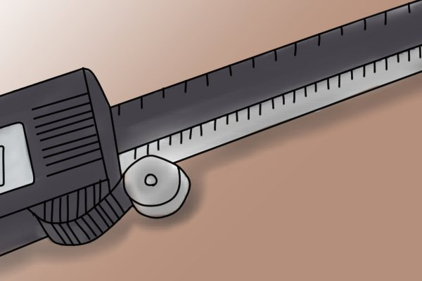 The thumb screw is used to precisely adjust the measuring faces of the caliper (both sets of jaws and the depth rod). When taking outside measurements, the thumb screw helps the user to get a tight grip on the material they are measuring.
