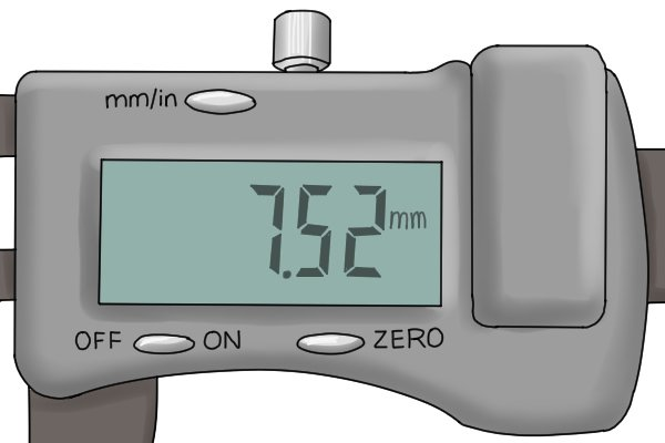 Easy reading of measurements The LCD read out screen makes measurements easy to read. Whilst vernier and dial calipers require the user to combine readings from two different scales to get the complete measurement, this is not necessary with digital calipers as the LCD display presents whole readings directly.