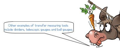 Wonkee Donkee says: 'Other examples of transfer measuring tools include dividers, telescopic gauges and ball gauges.'