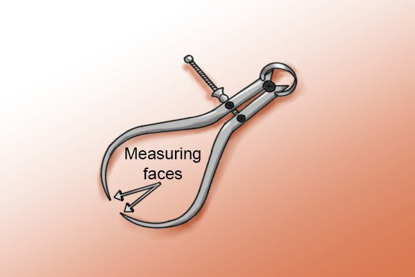 Step 2 Put the object you are measuring in between the measuring faces of the caliper.