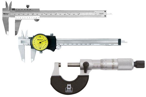 Dial caliper, vernier caliper and micrometer