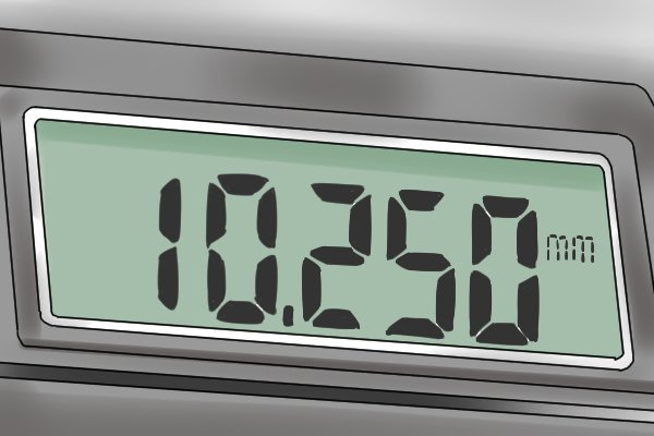 Instead of having two (or three) separate scales from which to read a measurement, readings provided by digital micrometers are electronically generated and shown on an LCD display.