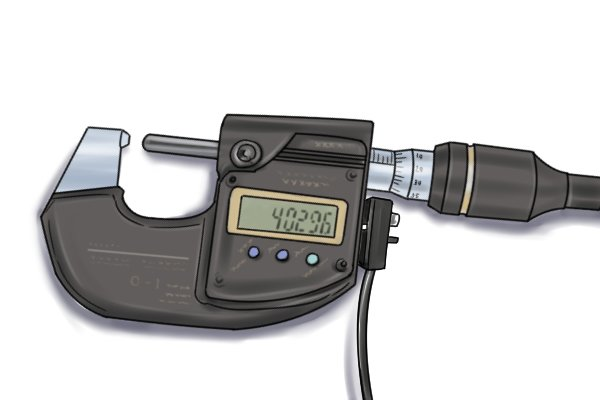Some micrometers have a data output connection which allows them to be connected to a computer. Measurements can then be stored on a spreadsheet rather than recorded manually.