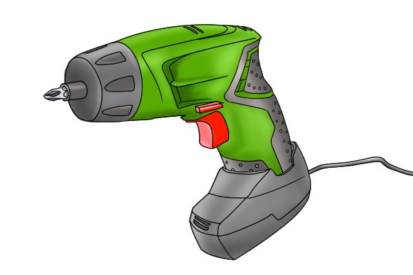 Cordless screwdriver with stand alone charger