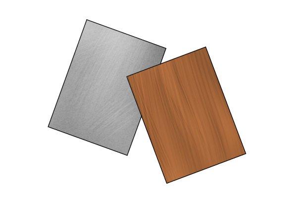 Metal and hardwood