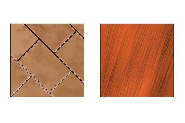 ceramic and hardwood
