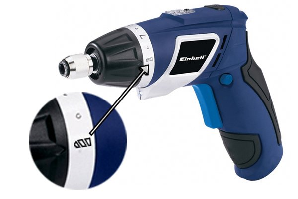 Drill mode on a cordless screwdriver