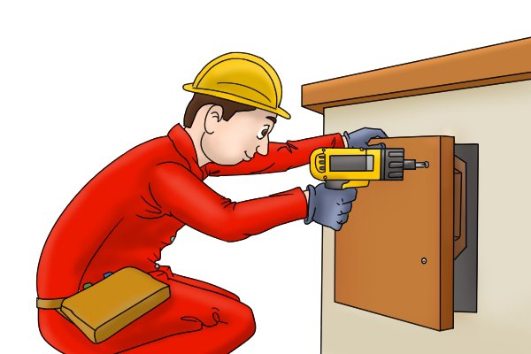Using a cordless screwdriver