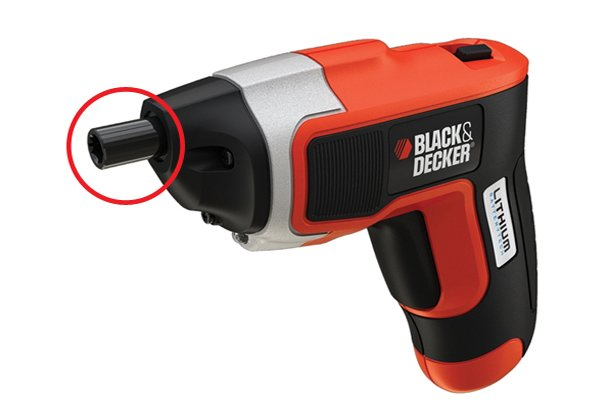 Cordless screwdriver chuck with magnetic bit holder