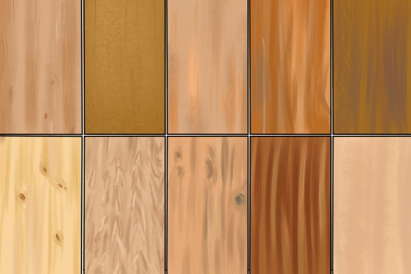 Image showing a variety of different species of wood used in the creation of wooden dowels