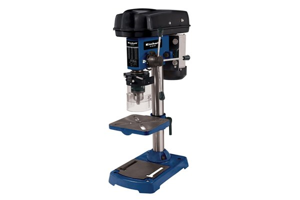Image of a drill press which is the most accurate drilling tool for dowelling projects